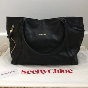 See by Chloe Harriet Leather East to West Tote